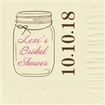 Mason's Jar Bridal Shower Beverage Napkins