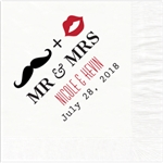 Mr. & Mrs. Design Wedding Beverage Napkins