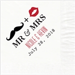 Mr. & Mrs. Design Wedding Luncheon Napkins