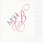 Stylish Monogram Wedding Luncheon Napkins