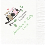 Owl Always Love You Design Wedding Beverage Napkins