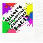 Paintball Party Mitzvah Design Beverage Napkins