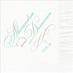 Script Names Wedding Beverage Napkins