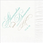 Script Names Wedding Luncheon Napkins