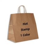 1 Color Hot Stamped Panther Kraft Paper Shopping Bag