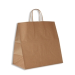 "100% Recycled Kraft Paper Shopping Bags Panther: 13"" x 7"" x 12-1/2"" - 250 Bags/Case"