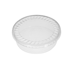 "32 oz. Plastic Food Containers - 7"" One Cell Tray with Covers - 40 per pack"
