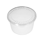 "64 oz. Plastic Food Containers - 7"" One Cell Tray with Covers - 40 per pack"