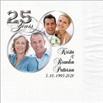 25th Anniversary Photo Beverage Napkins