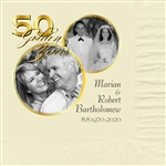 50th Anniversary Circle Photo Beverage Napkins