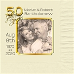 50th Anniversary Square Photo Luncheon Napkins
