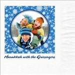 Hanukkah Circle Photo Beverage Napkins