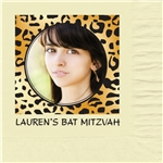 Leopard Photo Mitzvah Design Luncheon Napkins