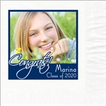 Congrats Grad Photo Beverage Napkins