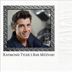 Metal Photo Mitzvah Design Luncheon Napkins