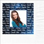 Starlit Birthday Photo Beverage Napkins