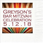 Stripes Mitzvah Design Luncheon Napkins