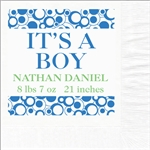 It's A Boy Photo Luncheon Napkins