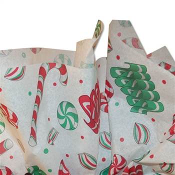 Christmas Holiday Sweets Patterned Tissue Paper