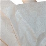White Paisley Print Patterned Tissue Paper