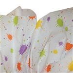 Paint Spatter Patterned Tissue Paper