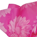 Big Flower Pink Patterned Tissue Paper