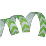 Lime Chevron Cotton Curling Ribbon