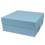 "11"" robin's egg blue rigid set up boxes"