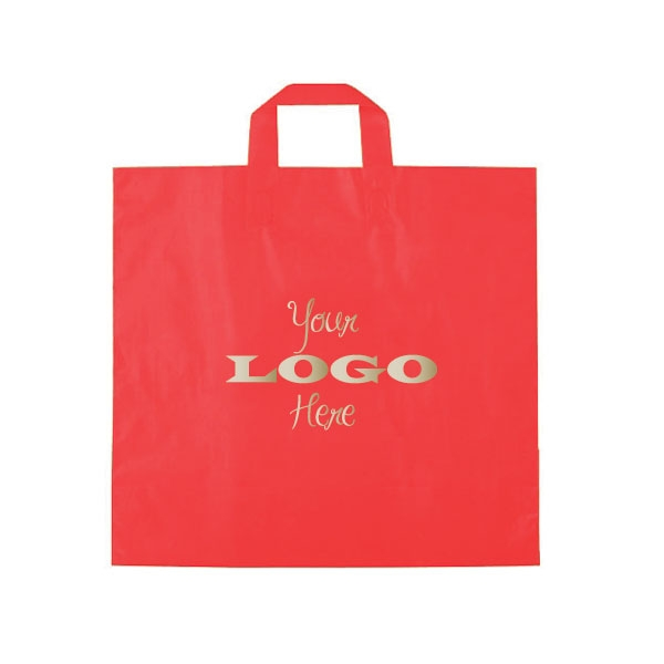 custom printed plastic bags ameritotes red larger photo email a friend - Custom Plastic Bags