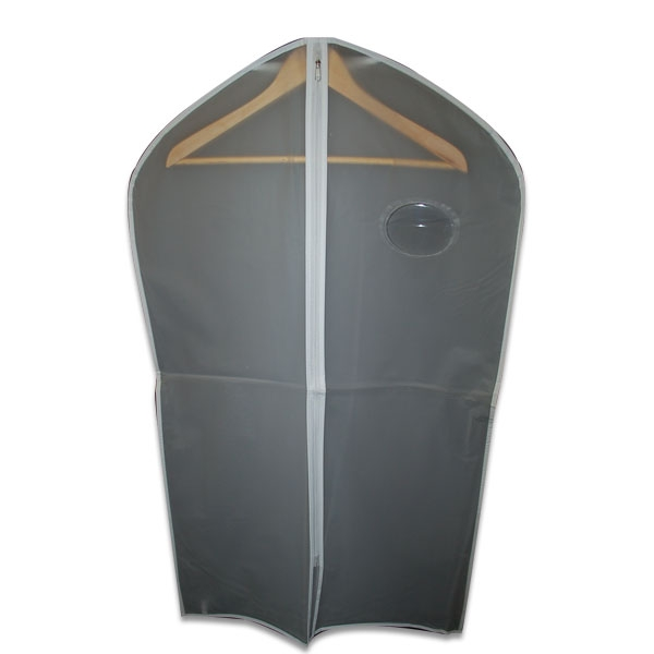 Frosted Clear Vinyl Zipper Garment Bags Larger Photo Email A Friend