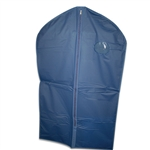 Navy Vinyl Zipper Garment Bags
