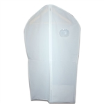 White Vinyl Zipper Garment Bags