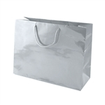 Silver Medium Eurotote Bags-Gloss Laminated