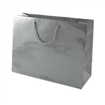 Gunmetal Medium Eurotote Bags-Gloss Laminated