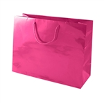 Azalea Pink Medium Eurotote Bags-Gloss Laminated
