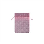 Mini Polka Dot Organza Bags Pink/White