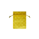 Mini Polka Dot Organza Bags Yellow/White