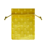 Small Polka Dot Organza Bags Yellow/White
