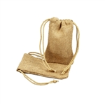 Small Natural Jute Pouches