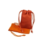 Small Orange Jute Pouches