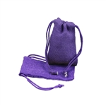 Small Purple Jute Pouches