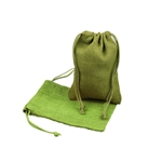 "5"" x 7"" Moss Green Jute Pouches"