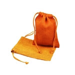 "5"" x 7"" Orange Jute Pouches"