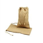 "6"" x 10"" Natural Jute Pouches"