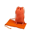 "6"" x 10"" Orange Jute Pouches"