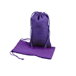 "6"" x 10"" Purple Jute Pouches"