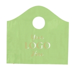 Custom Hot Stamped Plastic Bags - Super Wave Citrus Green