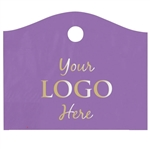 Custom Hot Stamped Plastic Bags - Super Wave Purple