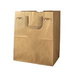 Kraft Grocery and Take out Bags with Flat Handles