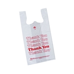 Thank You Medium White Plastic T-Shirt Bags